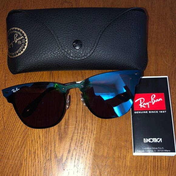 7aad5aab7 Ray-Ban Accessories | Ray Ban Blaze Clubmaster Black Violetblue ...